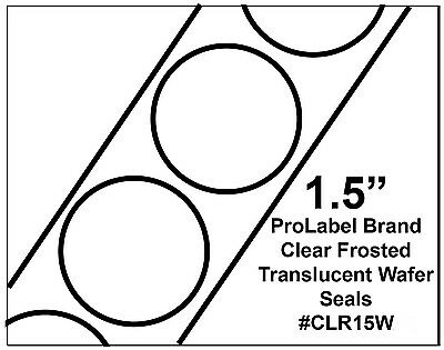 Clear Translucent Frosted 1.5 Wafer Seals 4000 Roll Clr15w 1 12 Round Labels