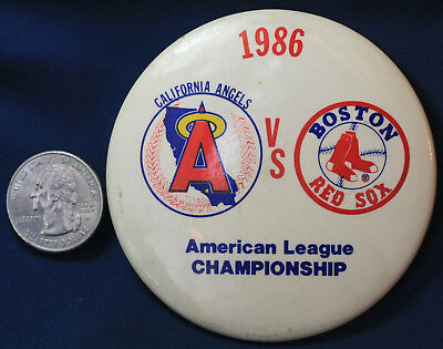 1986 American League Championship ALCS Boston Red Sox - California Angels - American League Pins