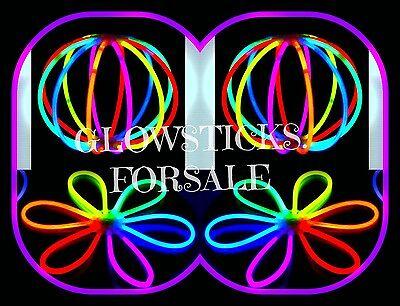"1000 8"" GLOW STICKS & GLOW BALLS FLOWER  & GLOW BUNNY-EARS NEON BRACELETS"