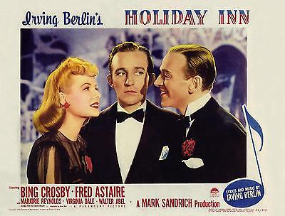 Holiday Inn   Bing Crosby   Fred Astaire   11X14 Lc Print 1942