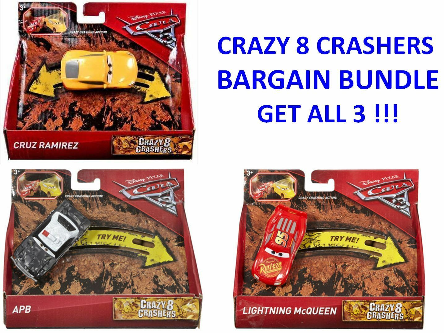 New Disney Pixar Cars 3 Crazy 8 Crashers Cruz Ramirez