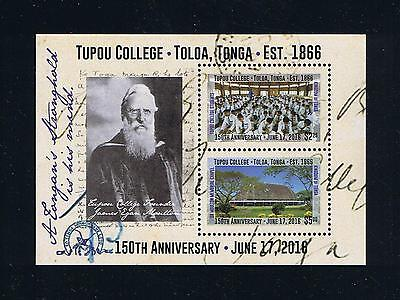 Tonga - 2016 Tupou College 150th Anniversary Postage Souvenir Sheet
