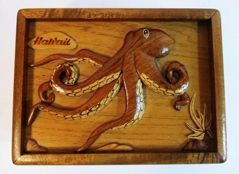Aloha Wood Art Carved Octopus By The Le Family Jewelry Box Aloha Hawaii