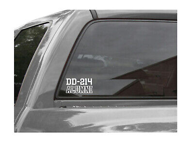Home Decoration - DD-214 Alumni - Army - Navy - Air Force - Marines - Veteran Vinyl Decal Sticker