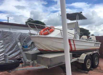 4.9 Metre Aluminium Centre Console Boat and Trailer