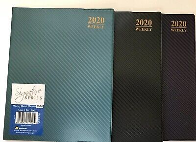 2020 Weekly Planner Calendar 8x10 Appointment Book Student Agenda Striped