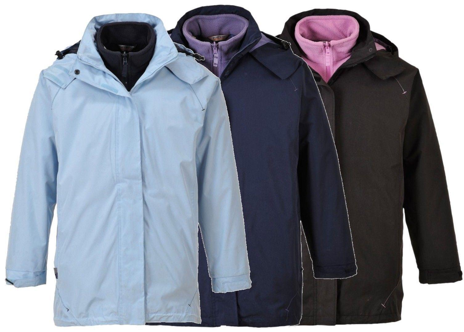 Portwest S571 Elgin 3 in 1 Ladies Jacket Waterproof Workwear