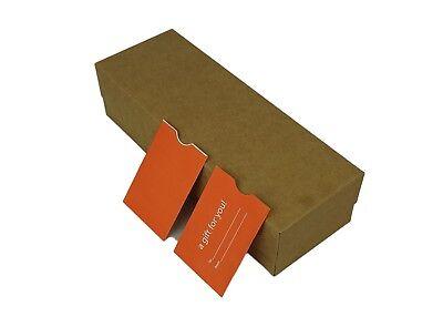 "100 Orange Holiday Gift Card Holder Protector ThumbCut,3.125x2.25(3-1/8""x2-1/4"")"