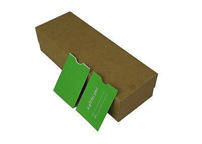 "100 Green Holiday Gift Card Holder Protector Thumb-Cut,3.125x2.25(3-1/8""x2-1/4"")"