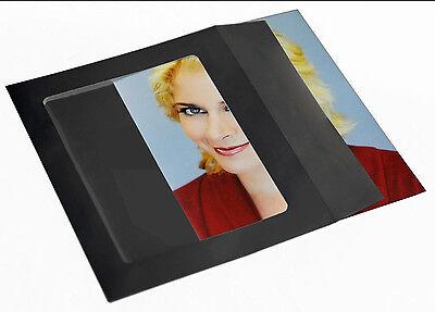 100 Actual 8x10 Black Open Window Envelopes For Headshots.... Actors Envelopes