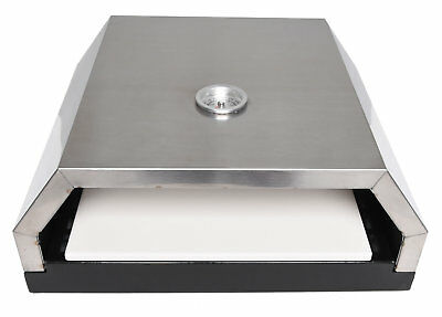 Zenvida Grill Top Pizza Oven with Stone for Gas or Charcoal Grill ()