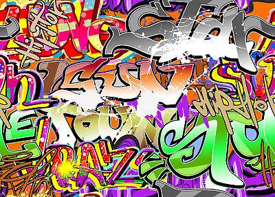 Hip Hop Abstract Graffiti Wall Design 10x8FT Vinyl Background Studio Backdrop - Backdrop Design