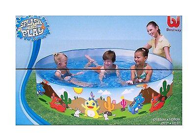 Planschbecken Dino Kinderpool Bestway Wasser Pool Kinder Badespaß Garten NEU