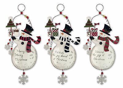 Sunset Vista Designs Co. Snowman Christmas Tree Ornament (Set of 3) ()
