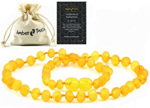 Unisex Baby Necklace Teeth Pain Reduce Natural Anti Flammatory RAW Honey