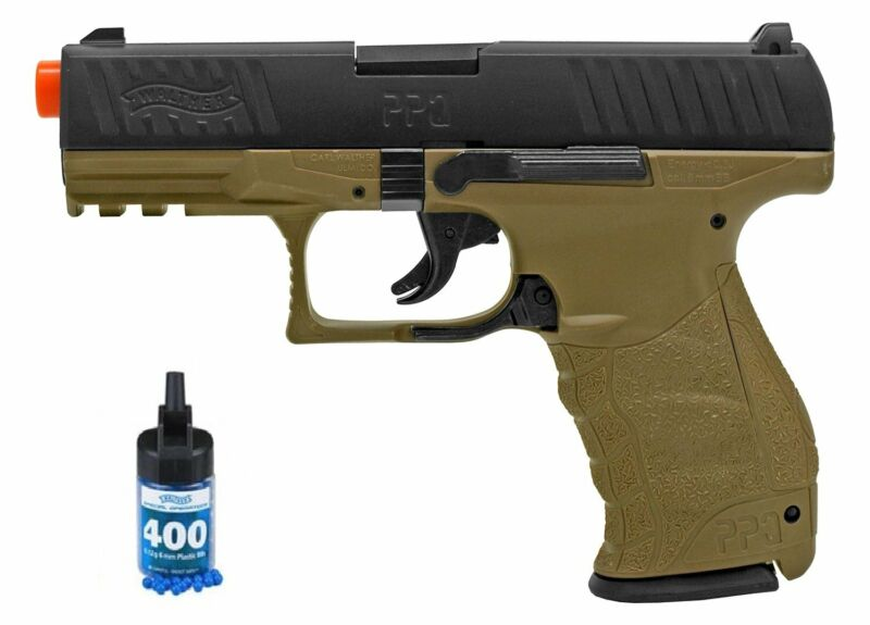 Refurbished Airsoft Licensed Walther PPQ Black and Tan Spring Pistol Kit