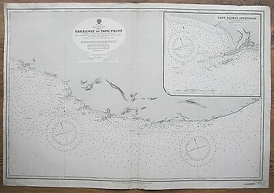 1914 AFRICA WEST COAST LIBERIA GARRAWAY TO TAFU POINT ADMIRALTY CHART MAP