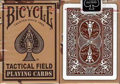 Tactical Field Desert Brown Bicycle Playing Cards Poker Size Deck USPCC -