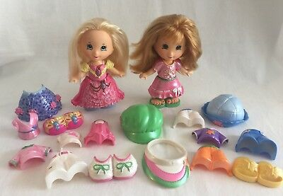 2 Fisher-Price Snap N' Style Dolls w/ Clothing & Accessories 22pcs