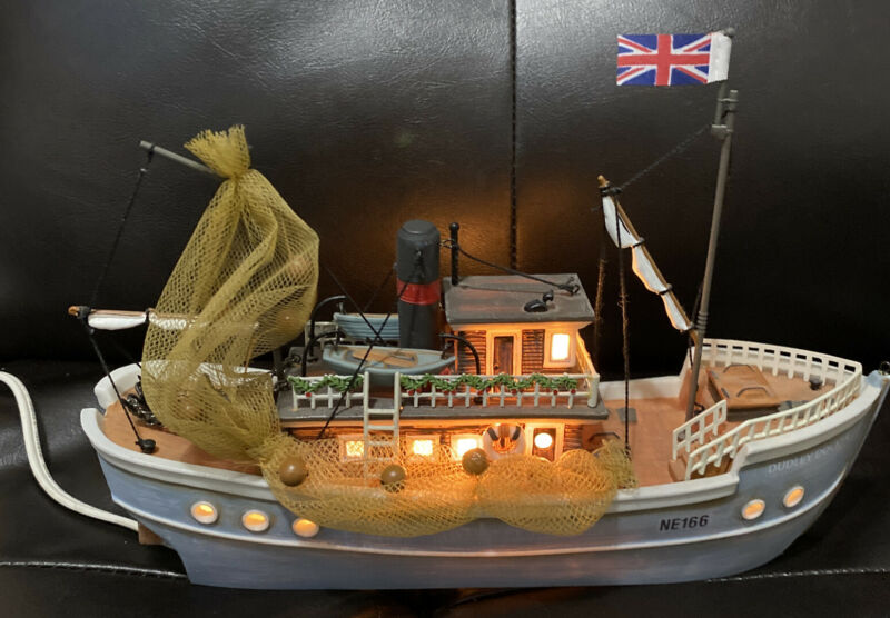Dept 56 Dickens Village - Dudley Docker - Lighted Ship Excellent Condition
