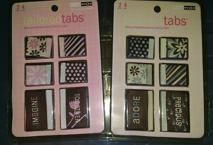 Fabric tags for scrapbooking