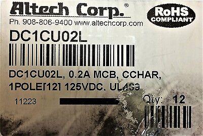 Dc1cu02l Altech Corp Circuit Breaker 1-p 0.2a125vdc 1 Unit