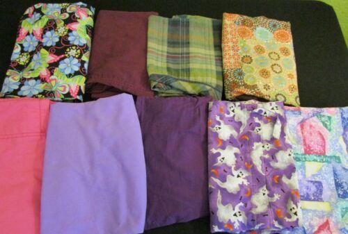 🦋 Lot of 9 Scrubs Tops Pants Jackets * Size SMALL * Butterfly Halloween Purple