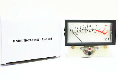 1pc Blue Led Panel Vu Meter Tn-73 0db0.8vac Size76x59x41mm Nissei