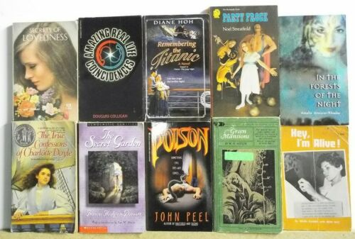 Lot of 10 YOUNG ADULT BOOKS novels FREE US S/H Read List Lot #H393