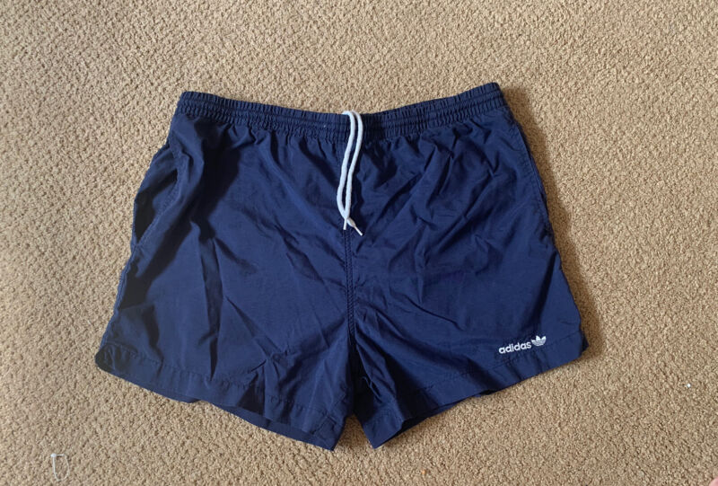 Vintage Adidas Embroidered Drawstring Shorts With Pockets RN# 88387