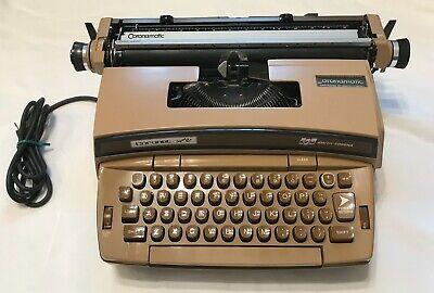 Vintage Smith Corona Coronet Super 12 Electric Typewriter w/Hard Case - Works!