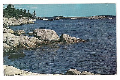 Cape Newagen Point Harbor Southport Island Boothbay Maine Me Postcard