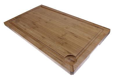 XXL Schneidebrett 50x30cm Tranchierbrett Schneidbrett Küchenbrett Bambus Holz