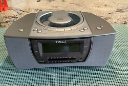 Timex Stereo CD Dual Alarm Clock Radio With Nature Sounds T608T USED Works Great