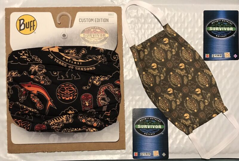 SURVIVOR BUFF and Officially Licensed Face Mask 20 Years 40 Seasons Black New