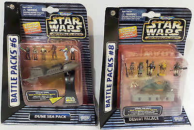 STAR WARS : BATTLE PACK SET 6 & 8. DESERT PALACE & DUNE SEA PACK SETS (F)