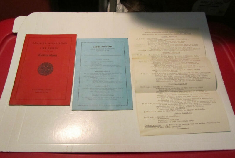 1943 Ontario Canada Dominion Association of Fire Chiefs Convention Program