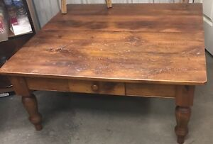 RECLAIMED WOOD COFFEE TABLE WITH DRAWER