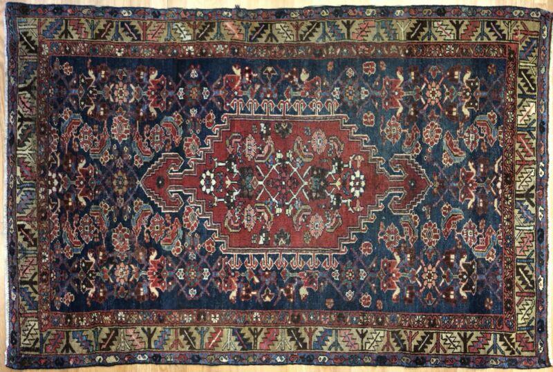 Tremendous Tribal - 1930s Antique Oriental Rug - Nomadic Carpet - 4.3 X 6.5 Ft