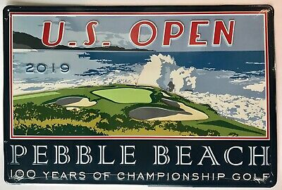 2019 U.S. Open pub sign pebble beach golf 100 years pga bar sign - Golf Pub Sign
