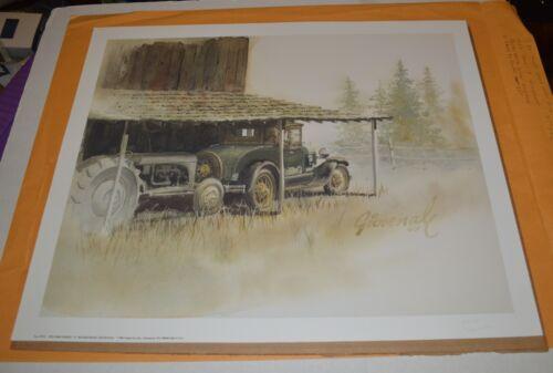 Model A tractor art