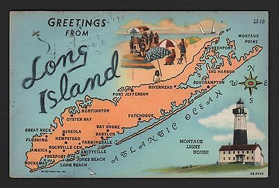 Postcard   Greetings From Long Island New York
