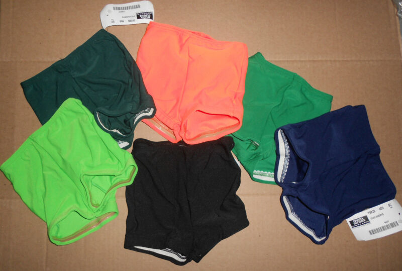 Booty SHORTS Dance Gymnastics Gripper Leg many color choices over 100 available