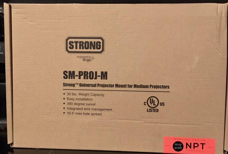 Strong Universal Projector Ceiling Mount SM-PROJ-M BLac For Medium Projectors
