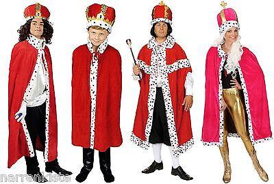 Königs König Mantel Umhang Cape Königsmantel Königsumhang Herren Kinder Kostüm ()