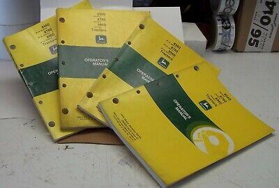 John Deere Operators Manual Tractors 8560 8760 8960 4 Total Manuals In Lot