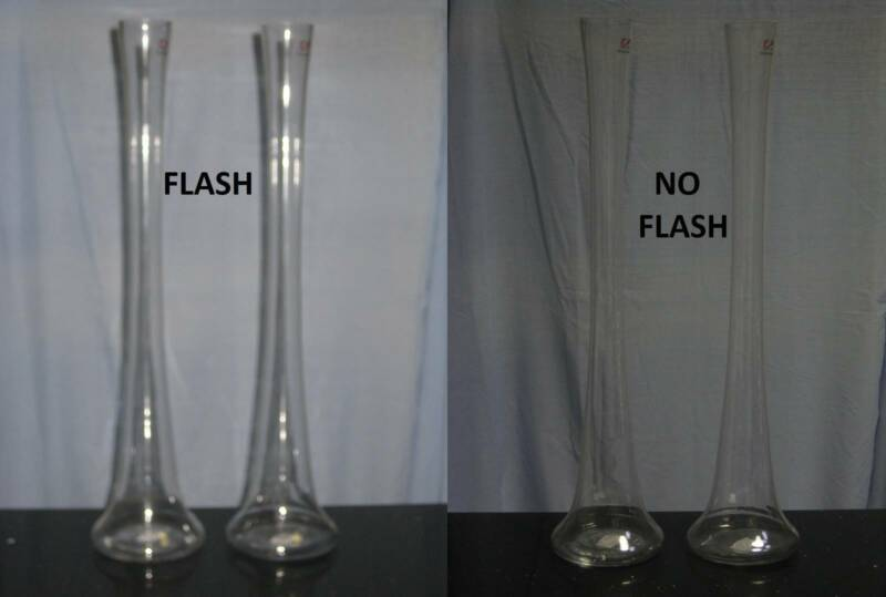 New Pair Of Decorative Tall Skinny Glass Vases Selling Together F