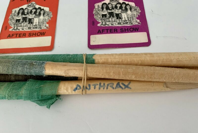 Charlie Benante Wrapped Drumsticks From Anthrax Rehearsals