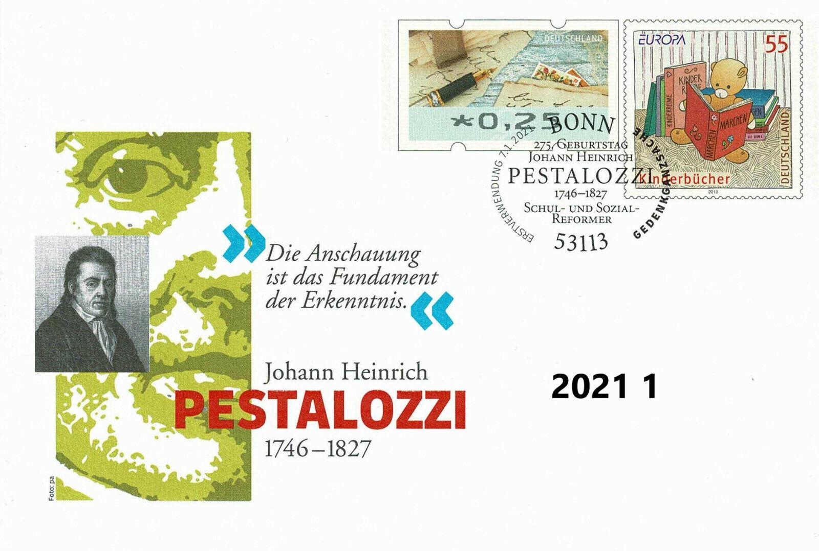 Ersttag 275.Geburtstag Johann Heinrich Pestalozzi Schul-und Sozial-Reformer Foto