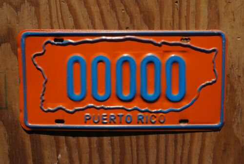 1971 1972 1973 Puerto Rico ISLAND SHAPE Sample License Plate - High Quality